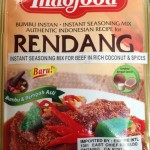 Indonesian instant seasoning mix (Rendang)